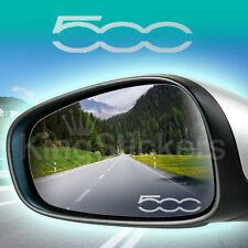 ADESIVI specchietti per FIAT 500 - PVC frost smerigliato - STICKERS auto