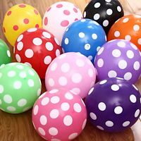 "25 Mixed Color 12"" Polka Dot Latex Balloons Celebration Party Wedding Birthday"