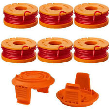 Worx Trimmer Spool Line(6) Wa0004 Spool Cap Cover Wa6531(2) Trimmer 8 Pack Or