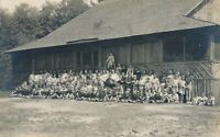 Campers and Counselors Real Photo Postcard rppc - 1931