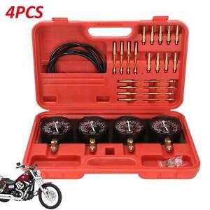 Motorcycle Vacuum Carburetor Synchronizer Carb Sync Gauge Tool Tuner Balancer