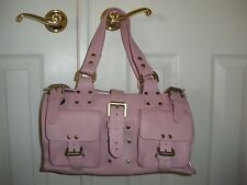 Mulberry Roxanne Pink Leather Handbag-Large Authentic
