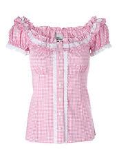 Ramona Lippert® Trachtenbluse Damen Laila rosa kariert Gr. 34-46, Mieder Bluse