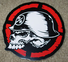 "METAL MULISHA Red Targt Skull Helmet Skate Sticker 4"" motocross skateboard decal"