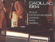 1984 Cadillac DeVilles Fleetwood Eldorado Seville Cimarron FL Sales Brochure