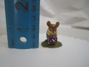 Genuine Wee Forest Folk His Lunch Box Special Edition M-347 Mouse Retired Rocket