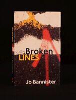 1998 Broken Lines Jo Bannister First Edition Crime Fiction