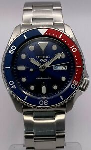 "Seiko 5 Sports Men's Automatic Blue Dial ""Pepsi"" bezel bracelet Watch SRPD53K1"