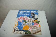 LIVRE TISSU BLANCHE NEIGE ET LES 7 NAINS FERNAND NATHAN DISNEY VINTAGE 1960 BOOK