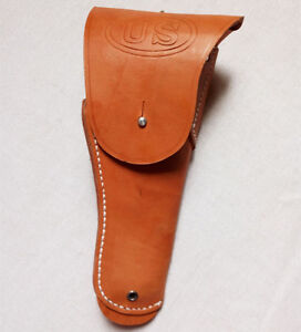WWII USMC US Army M1916 Brown Leather Pistol Holster For Colt 45 M1911 Pistol