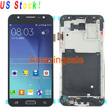 Black LCD Touch Digitizer Replacement + Frame For Samsung Galaxy J5 J500F J500M