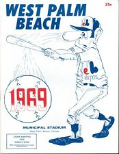 1969 WEST PALM BEACH EXPOS ( FSL -Single A ) MAGAZINE PROGRAM SCORECARD  NM