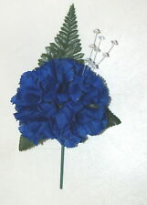 ROYAL  BLUE CARNATION BUTTON HOLE & DIAMONTIES