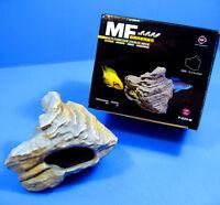 CICHLID STONE Ceramic Aquarium Rock Cave Decor for Plant Tropical Fish Tank 923B