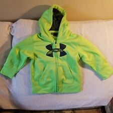 UNDER ARMOUR HOODIE - BABY/TODDLER 24 MONTHS - NEON