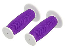 Bicycle Handle Bar Mushroom Grip White and Purple BMX Boys And Girl Bikes 163206