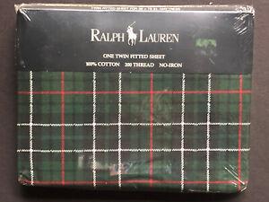*NEW RARE~RALPH LAUREN Plaid *TWIN FITTED SHEET Dartmoor Multi Bradley Green