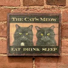 "Medium Reproduction ""The Cat's Meow"" - Original Art - Pub Tavern Sign"
