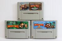 Lot 3 Super Donkey Kong Country 1 2 3 SFC Nintendo Super Famicom Japan Import B