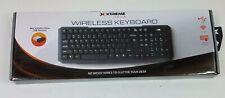 Xteme Tech Wireless Keyboard Nano USB Receiver 2.4 GHZ Smooth Touch 30' range