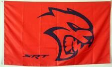 DODGE CHALLENGER SRT HELLCAT FLAG BANNER 3X5 RED 6.2 liter hemi 707 horsepower