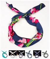 Women Rabbit Bunny Ear Ribbon Hair Band Metal Wire Headband Wrap Bow Uig Balss