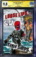 Snake-Eyes: Deadgame #1 Comic -  Greg Horn Remarked 9.8 CGC SS Deadpool STF-UP!