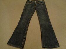 True Religion Bobby Big T Jeans Women's Size 28 Inseam 29 Flare Black Distressed