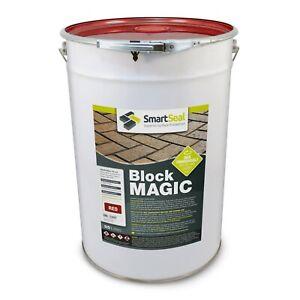 Smartseal 'BLOCK MAGIC' RED (25 & 5 L & Sample) Colours & Seal Old Block Paving