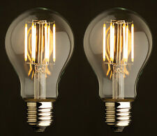 Set of 2 Vintage Style Edison LED Bulbs 6W Dimmable Filament Lighting 2 Pack