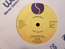 CANADA PROMO SIRE 7' 45 RECORD/STYLE/TELEPHONE/CHAIN REACTION/ VG/EX VINYL