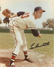 Lou Burdette Autographed 8 x10 color photo - Milwaukee Braves star pitcher
