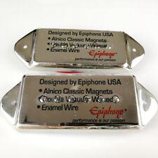 New Epiphone Casino Dog Ear P90 Guitar Pickup Neck + Bridge Pair Chrome