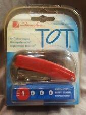 "Vintage Swingline ""Tot  Red Mini Stapler with Original Box bostitch w staples"