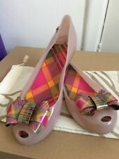 Size 7 40 Melissa Vivienne Westwood Rubber Tartan Style Flats Pumps Shoes