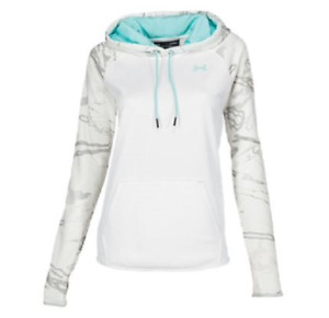 NEW Under Armour Women's Storm Armour Fleece Camo Blocked Hoodie Size Large