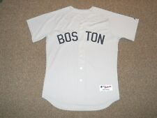Boston Red Sox Throwback Grey Blank Authentic Jersey sz 48 by Majestic New TBTC