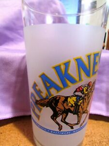 1996 Preakness Stakes 121th Pimlico Horse Race Souvenir Glass - Baltimore, MD