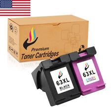 2pk 63XL Ink Cartridge for HP Envy 4512 4516 Deskjet 1110 1112 2130 Printer
