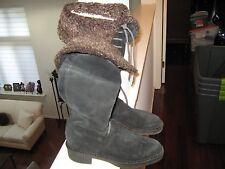Vicini , Ladies High Boot , Made in Italy , Suade , Leather Lined  , Size 8