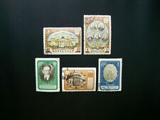 RUSSIAN STAMPS 1951 YEAR 2 COMPLETE SETS, SCOTT # 1553, 1554, 1563-1563. USED