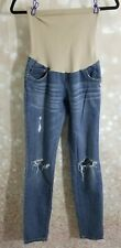 Indigo blue Distressed maternity jeans SIZE Small