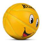 Kuangmi Kids Basketball Sports Fun Game Ball Toy Smiling Face Basketball Size 5