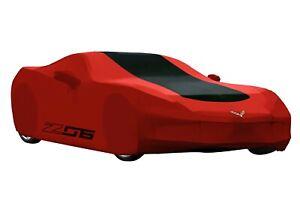 2014-2019 C7 Corvette Z06 Red & Black Outdoor Car Cover GENUINE GM 23187877