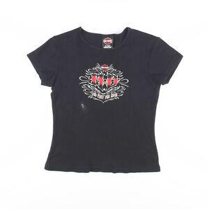HARLEY DAVIDSON  Black Biker Short Sleeve T-Shirt Womens S