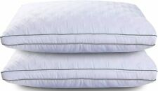 2 Pack Pillows Luxury Ultra Soft Gusseted Bed Pillows for Side and Back Sleepers