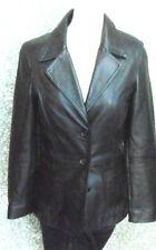 180 L15 GIPSY mujer marcas Cuero Chaqueta Blazer Talla S Negro de botones