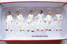 Preiser 1:50 scale 68212 SIX MECHANIC Figures ( White Coveralls )