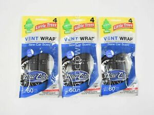 3 Little Trees Vent Clip Air Fresheners - New Car Scent StediScent Technology