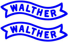 Walther gun stickers, walther blue decals (2), Walther PPK guns decal